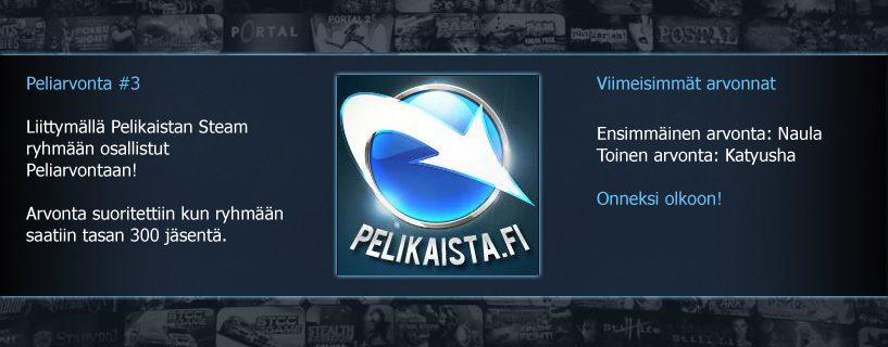 Steam Peliarvonta #3 – suoritettu!