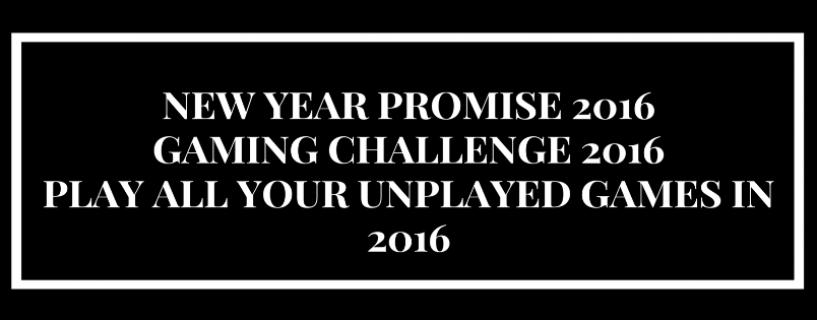 Uudenvuodenlupaus ja pelihaaste 2016