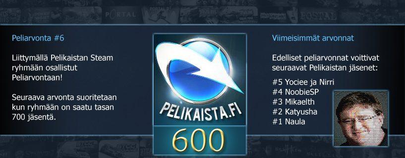 Steam Peliarvonta #6 – Voittaja arvottu